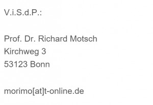 Prof. Dr. Richard Motsch, Kirchweg 3, 53123 Bonn
